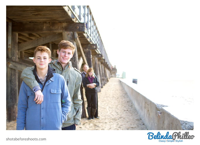 Family portrait at the Seal Beach Pier