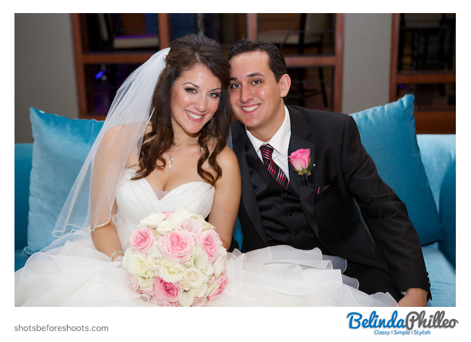 Bride and her brother at the Hills Hotel Laguna Beach