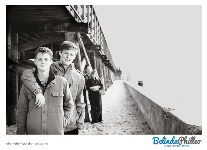 Family Portrait at seal beach pier by orange county photographer belinda philleo