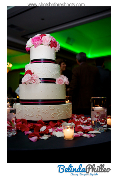 laguna hills pink wedding cake