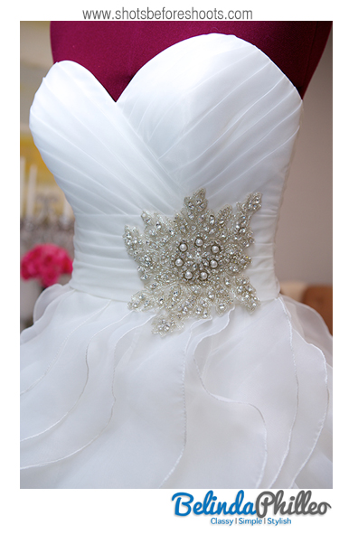 beaded bridal gown ; sweetheart neckline bridal gown