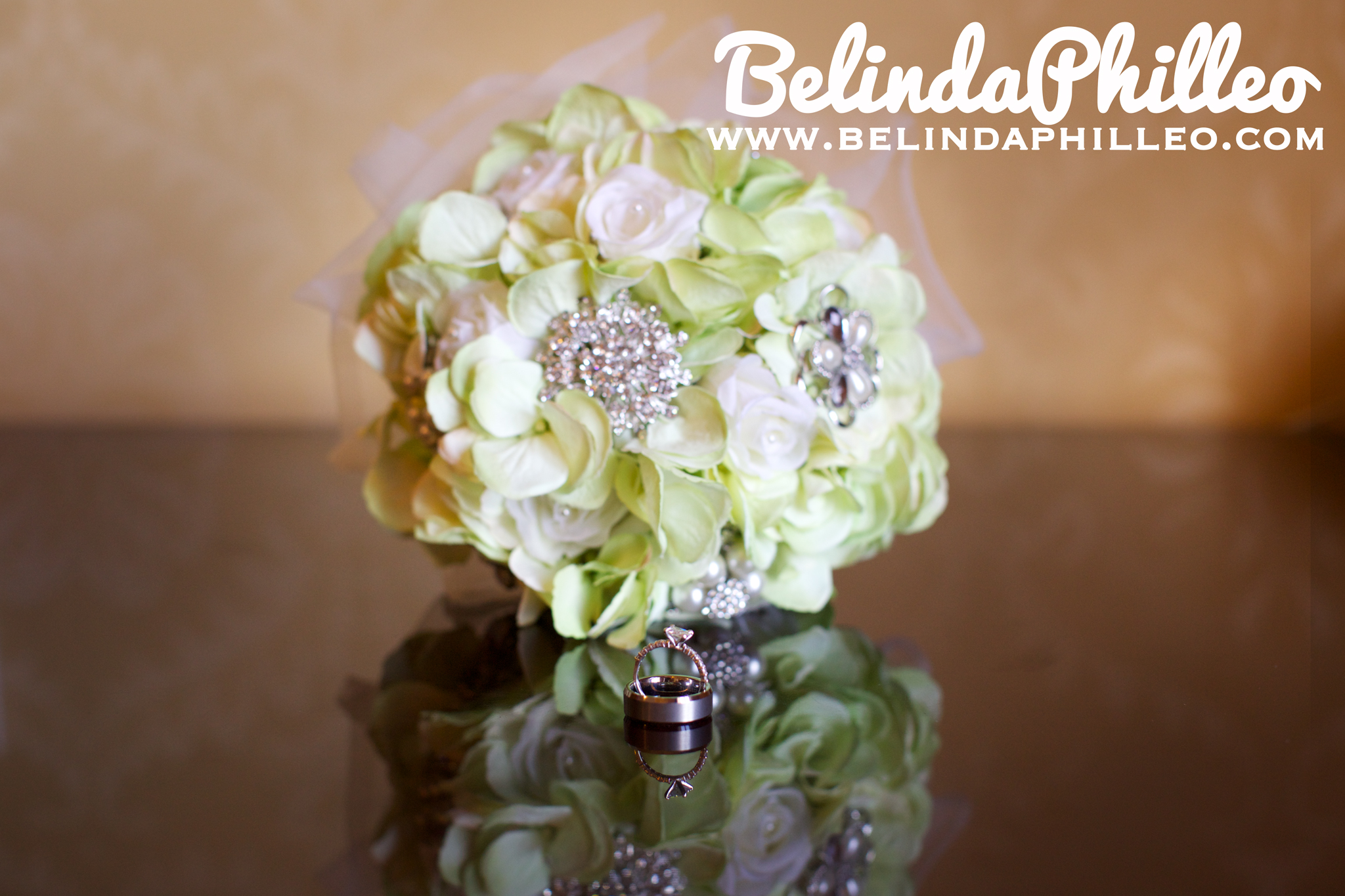 silk bridal bouquet with broaches