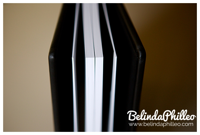 handmade leather wedding albums