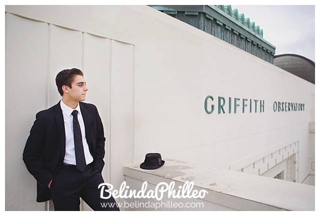 guys senior photos at griffith observatory, los angeles portrait photography