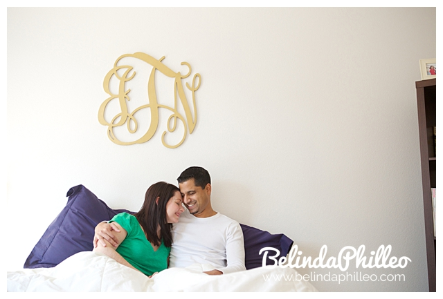 cozy day in engagement photos