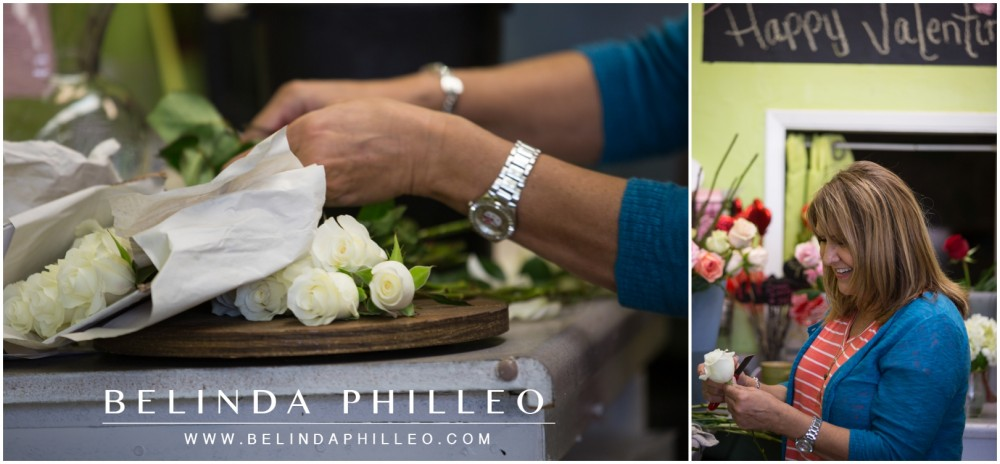 Pamela Morales creates beautiful bridal bouquets at Weeds and Company Florist in Garden Grove, CA