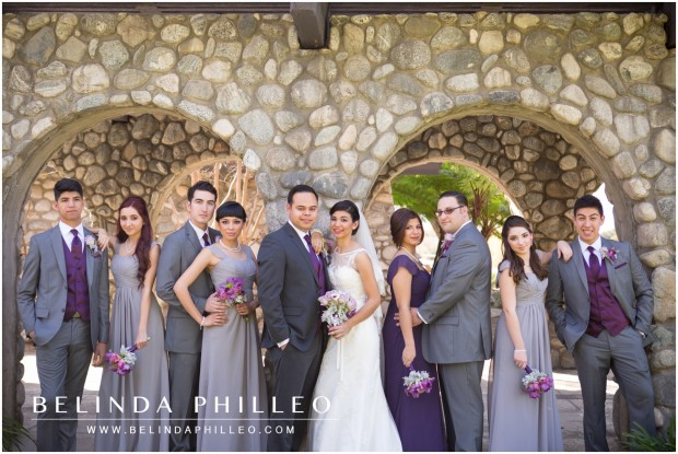 Los Angeles wedding photography; bridal party portraits