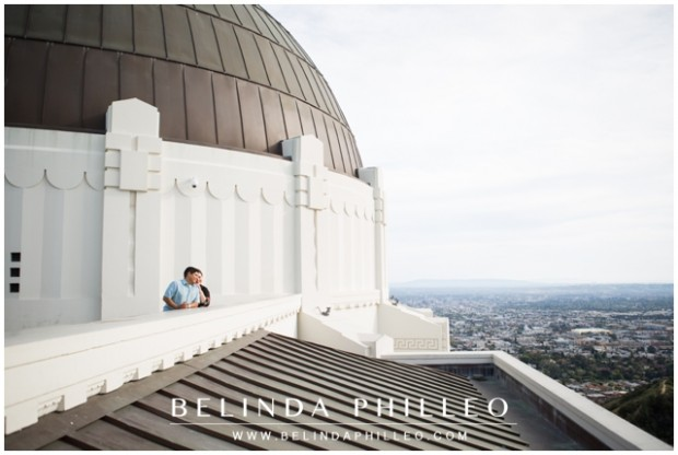 Los Angeles Engagement Photos at Griffith Observatory