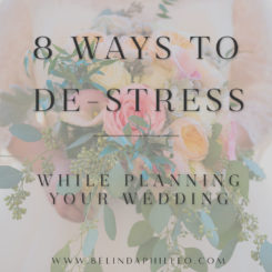 8 Ways to De-Stress While Wedding Planning