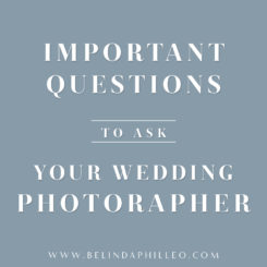 Important Questions to Ask Your Wedding Photographer