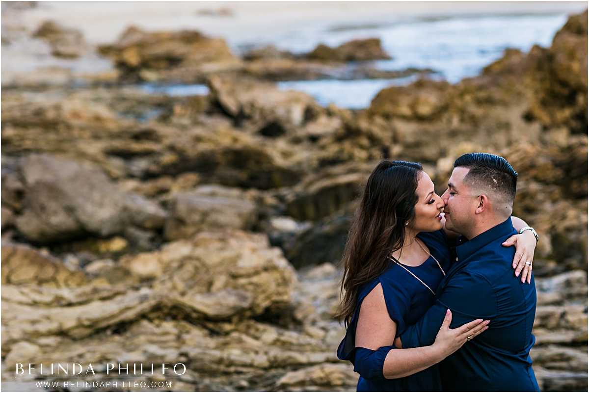 romantic Newport Beach engagement photos