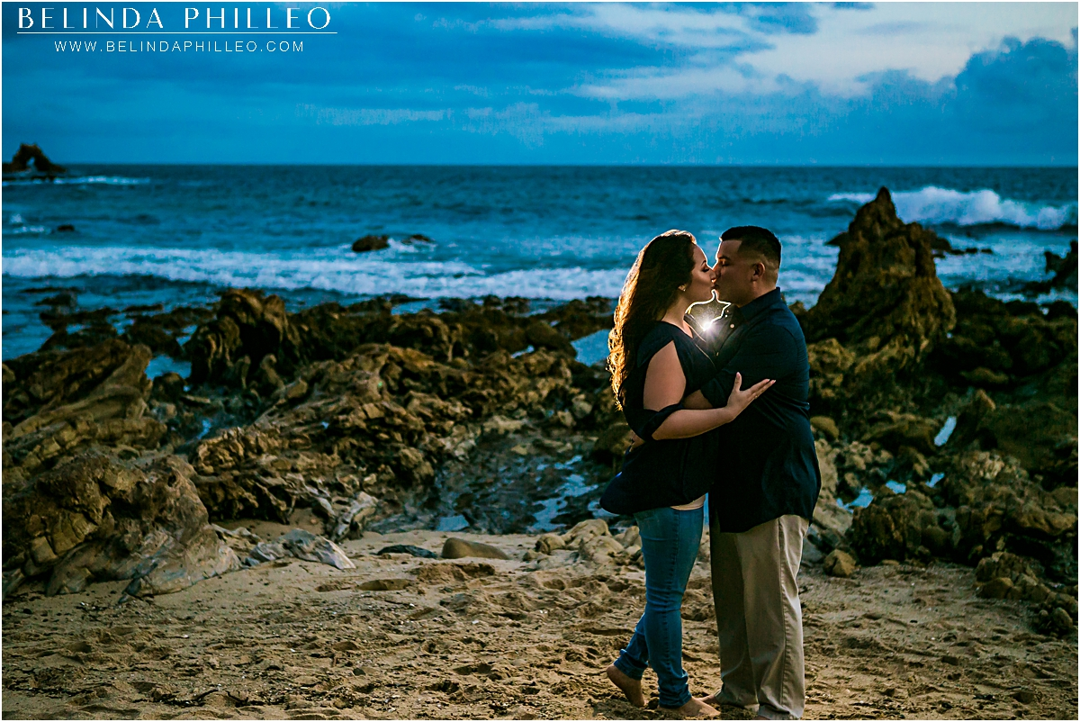 dramatic Newport Beach engagement photos