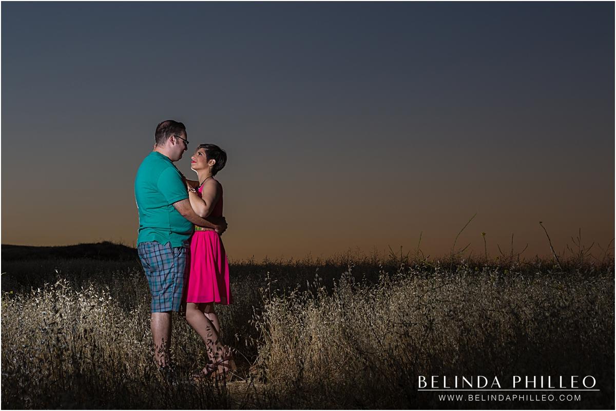 married couple enjoying sunset at Quail Hill in Irvine, CA