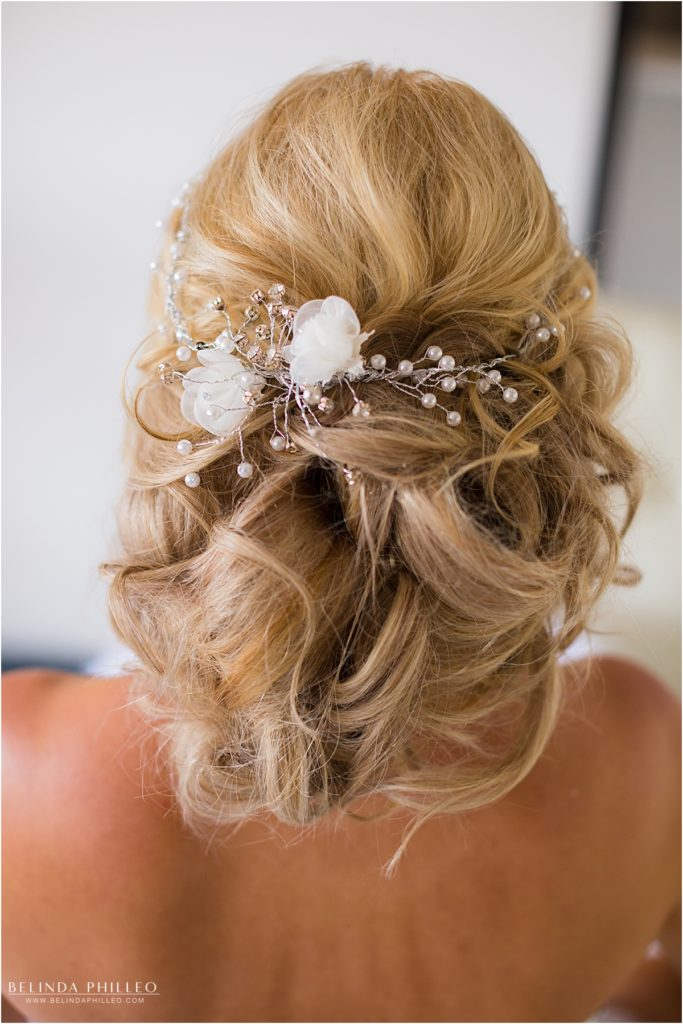 bridal updo by Label Me Lindsay Bridal Team, Los Alamitos, CA. Photography by Belinda Philleo