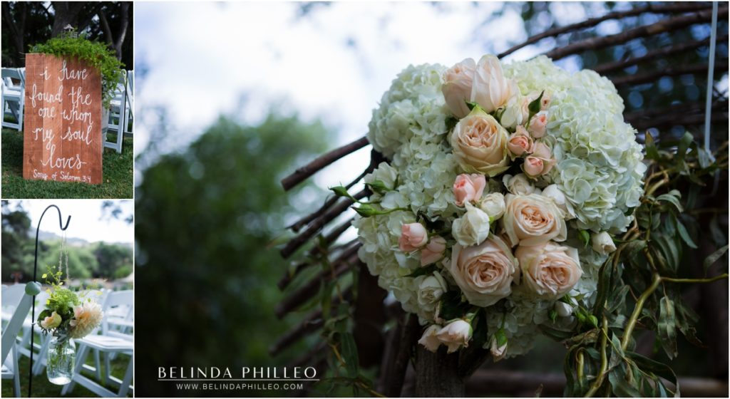 Ceremony details at Temecula Creek Inn wedding in Temecula, CA. Photos by Belinda Philleo
