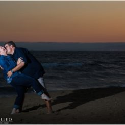 Sunset Beach Engagement Photos | Stacie & Ray