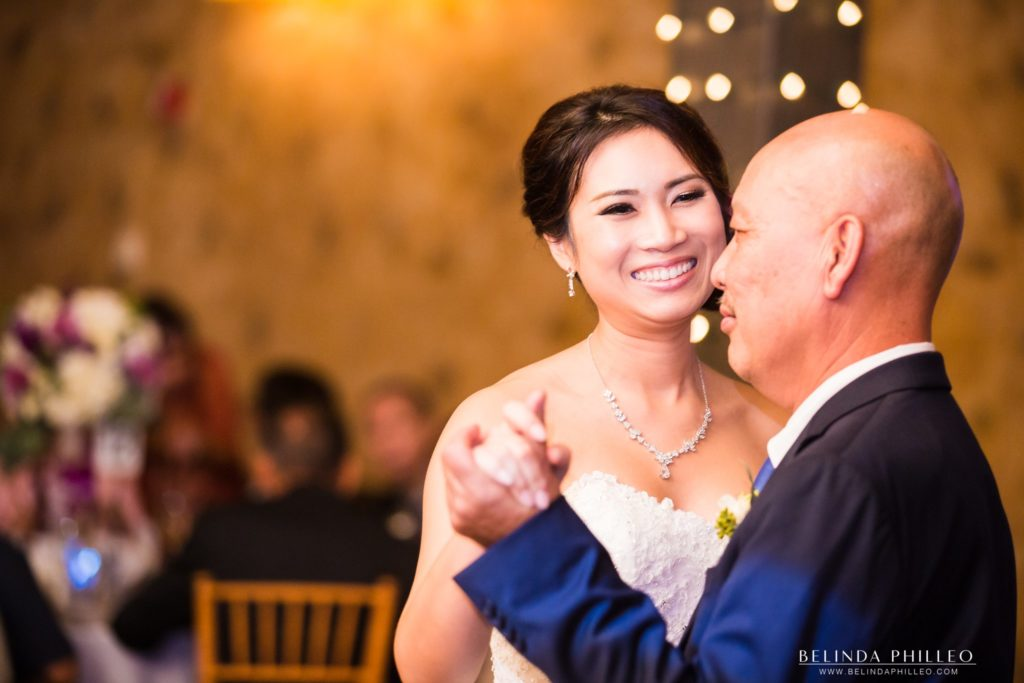 Bride shares a dance with her father at Redondo Beach Historic Library Wedding