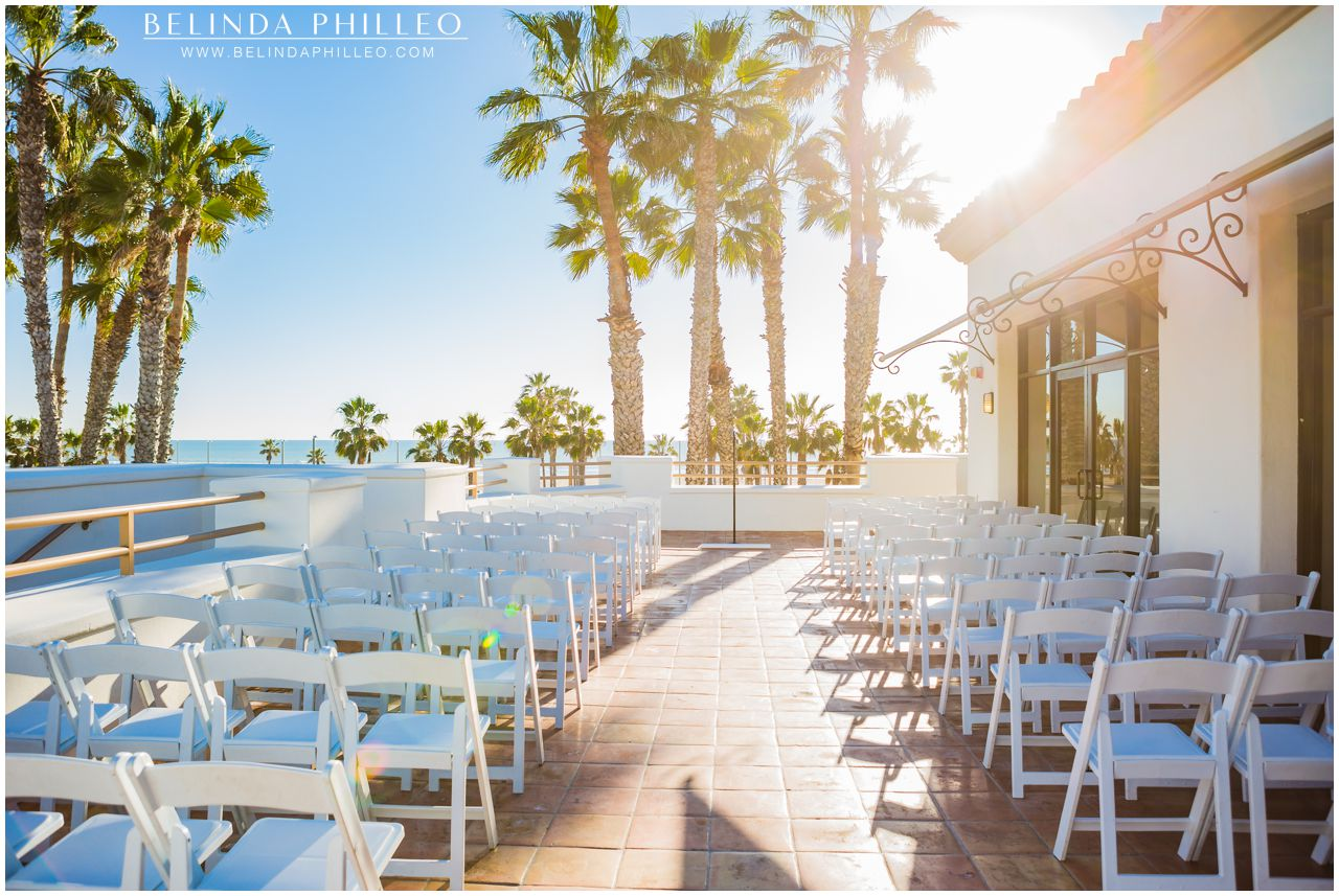 Rooftop Ceremony at Hilton Waterfront Resort in Huntington Beach, CA
