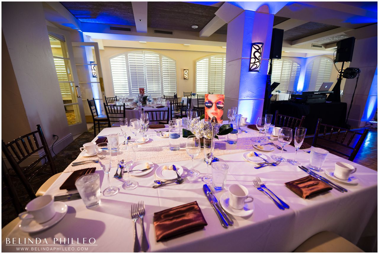 Wedding reception at Hilton Waterfront Resort in Huntington Beach, CA