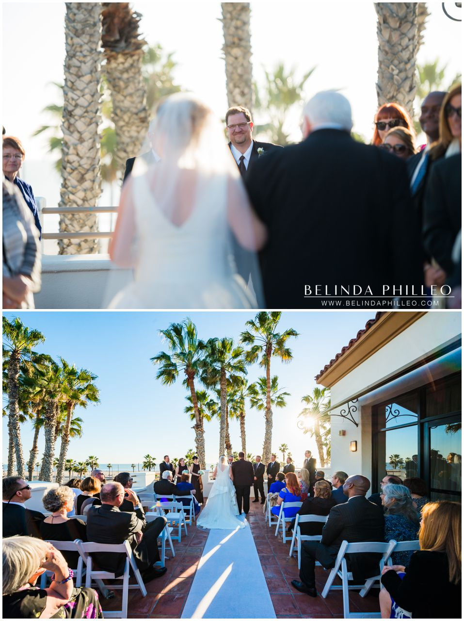 Hilton Waterfront Resort Wedding ceremony on the rooftop