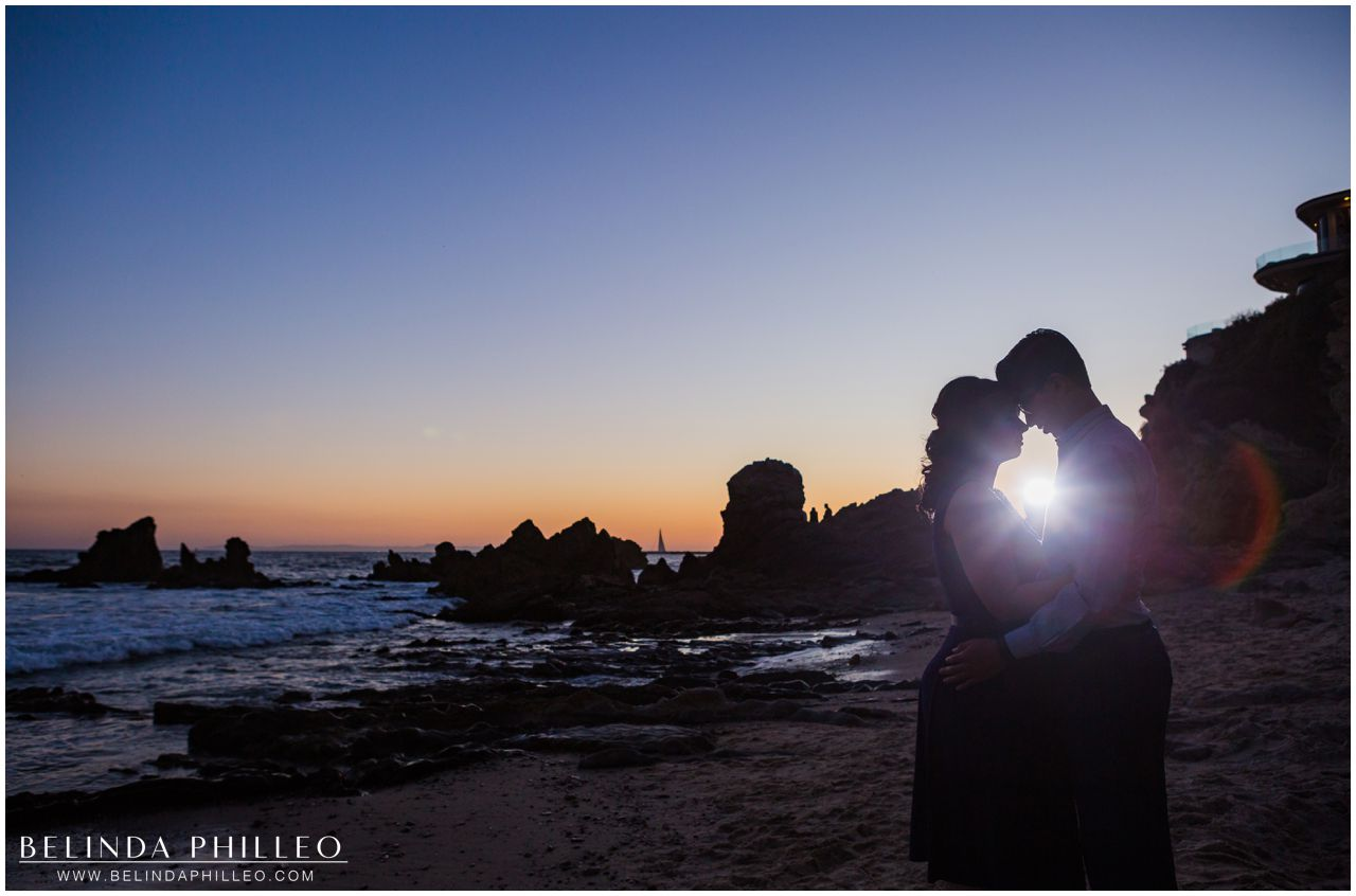 Newport Beach engagement photos at sunset