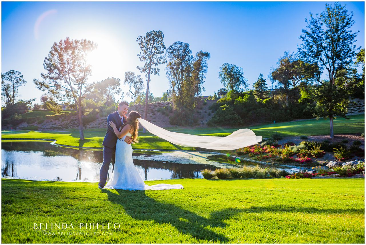 Bride and Groom at Friendly Hills Country Club