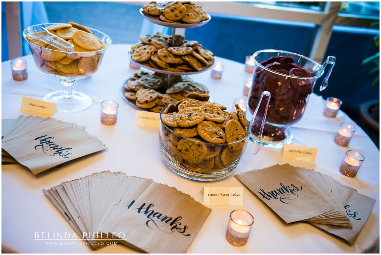 Cookie bar at Friendly Hills Country Club Wedding Reception, Whittier CA