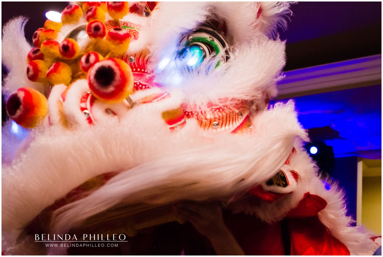 Lion Dance at Friendly Hills Country Club Wedding. Photo by Belinda Philleo