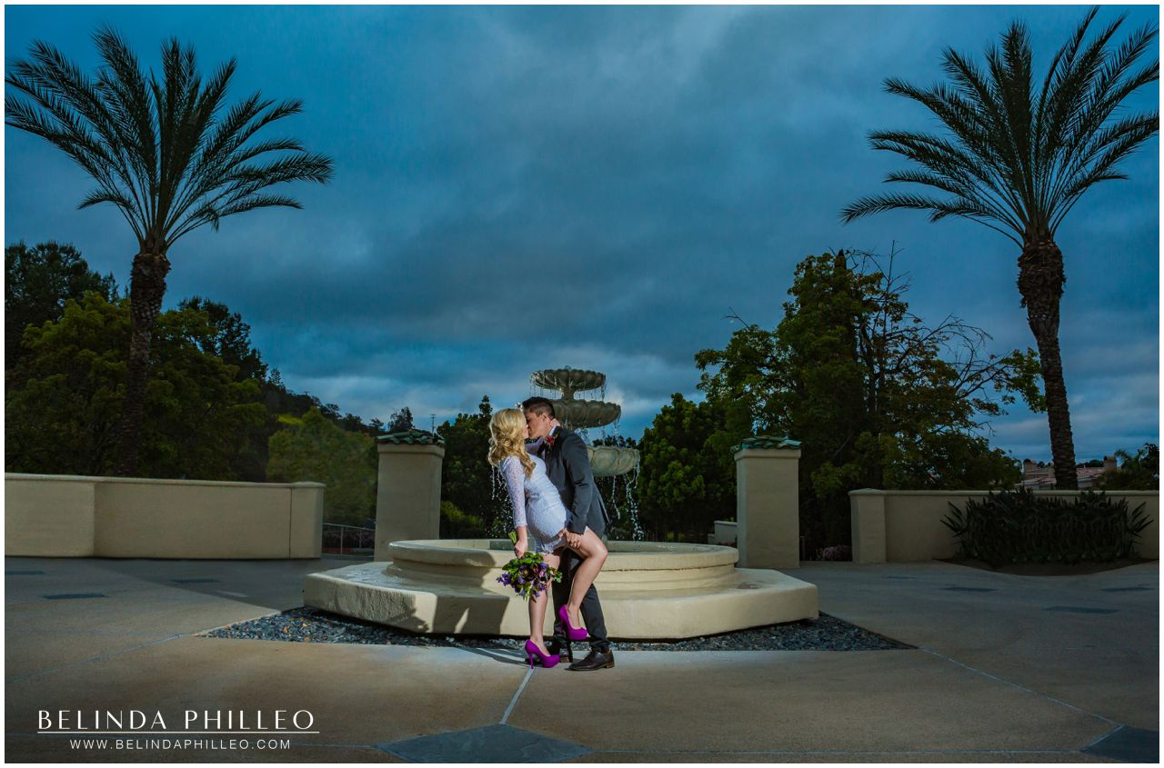 Dramatic wedding photography by Belinda Philleo at Marbella Country Club in San Juan Capistrano