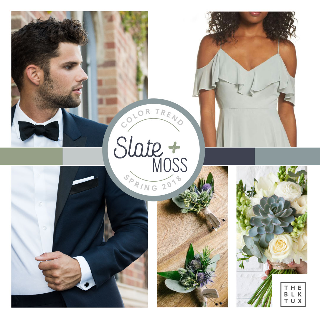 Slate, Blue and Moss Green wedding inspiration for Spring 2018